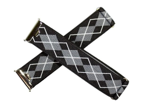 Sleeve garters black-grey