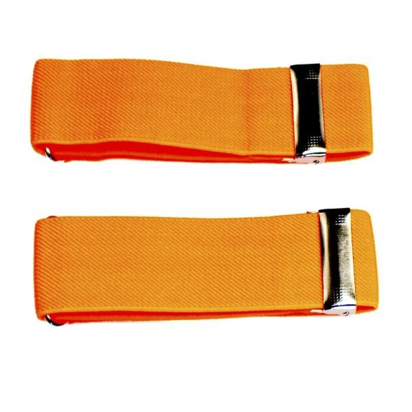 sleeve holders neon orange