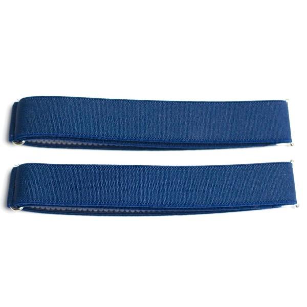 sleeve garters small dark blue